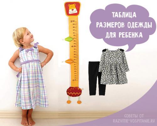 Как определить размер одежды подростка. Как правильно подобрать одежду ребенку по размеру