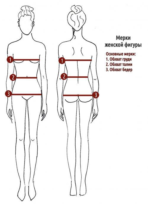 Определить размер женской одежды. Какие измерять мерки